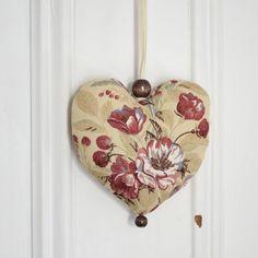Coeur en tissu à suspendre Décoration Ornement par ChristineGrenier