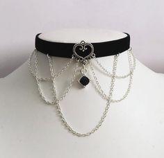 Fantasy Jewelry, Gothic Jewelry, Gothic Necklaces, Steampunk Necklace, Steampunk Diy, Jewelry Necklaces, Cute Jewelry, Jewelry Accessories, Gothic Accessories