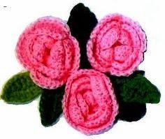 rosas em croche em croche com receita