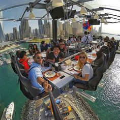 Dubai, United Arab Emirates Dinner in the sky!
