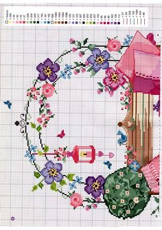 Cross Stitch Love, Cross Stitch Books, Cross Stitch Flowers, Cross Stitch Charts, Cross Stitch Designs, Cross Stitch Patterns, Embroidery Patterns, Hand Embroidery, Plastic Canvas