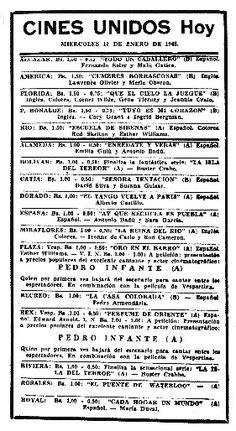 D cada 40 cartel inaugural del cine rialto con el gran cl sico de la guerra casablanca 29 de - Cines gran casa cartelera ...