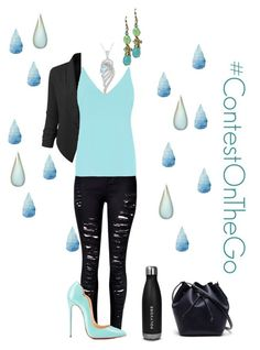 """""""#ContestOnTheGo #ContestEntry"""" by campanellinoo on Polyvore featuring LE3NO, Dorothy Perkins, Christian Louboutin, Lacoste, contestentry and ContestOnTheGo"""