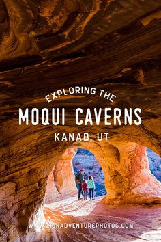 Exploring Moqui Caverns in Kanab, UT with kids.