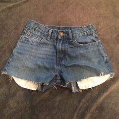 """Vintage Levi's cutoffs  My specialty! The cutoff jean shorts! These are Levi's red tab jeans. The waist actually measures 25"""" (the tag says 27"""" but it's not the truth). These are a summer must have! Vintage! Levi's Shorts Jean Shorts"""