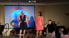 Scene from the show-- an audience member pitches their audience made invention to the barracudas