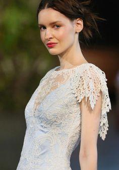 claire pettibone - blue wedding dress