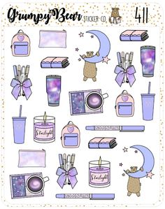 Nebula Deco Sheet – Grumpy Bear Sticker Co. Journal Stickers, Scrapbook Stickers, Planner Stickers, Kawaii Stickers, Cool Stickers, Preppy Stickers, Bullet Journal Art, Bullet Journal Ideas Pages, Kawaii Drawings