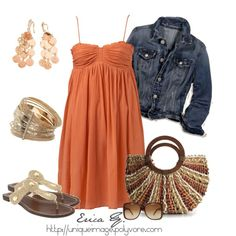 Orange Sun Dress... love dresses like this for the summer... literally the coolest thing one can wear.