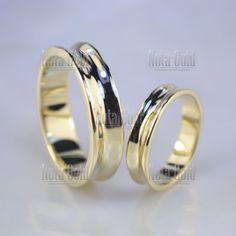 Классические вогнутые обручальные кольца из жёлтого золота (Вес пары  12  гр.) e7d2b7a432a91