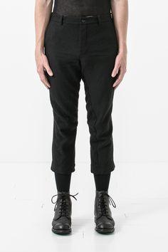 UP012 Forme D'Expression Black Curve Cropped Pants