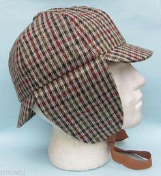 1f8f1acead8 Gorro de Cazador Sherlock Holmes de Cuadros Estampado Tweed Sombrero