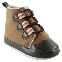 Luvable Friends™ Infant Boys' Hiking Boot - Brown/Orange