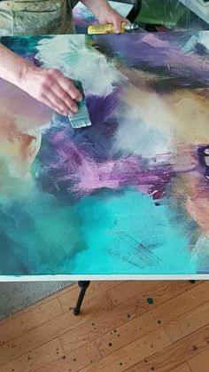 Abstract Canvas Art, Diy Canvas Art, Painting Abstract, Painting Canvas, Acrylic Art Paintings, Abstract Painting Techniques, Tree Paintings, Space Painting, Knife Painting