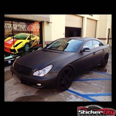 Mercedes CLS 550 Looking Good Wrapped In Matte Black!  - http://www.stickercity.com/portfolio/mercedes-cls-550-looking-good-wrapped-matte-black