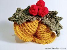 tejido a mano Crochet Christmas Ornaments, Holiday Crochet, Crochet Patterns Amigurumi, Crochet Blanket Patterns, Diy Crochet, Crochet Hats, Christmas Projects, Christmas Diy, Crochet Market Bag