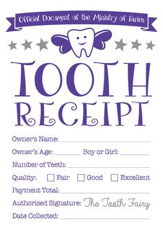 tooth receipt … …