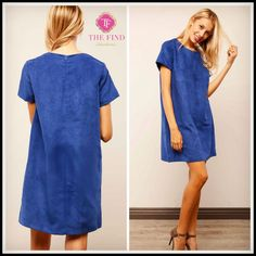 """Rowan Suede Shift Approx 35"""" Length.   S: 2/4 M: 6/8 L: 8/10  **Ships 1 week!    OUR Price $39.00, Free Shipping"""