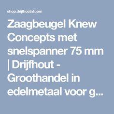 Zaagbeugel Knew Concepts met snelspanner 75 mm | Drijfhout - Groothandel in edelmetaal voor goudsmeden, edelsmeden en juweliers