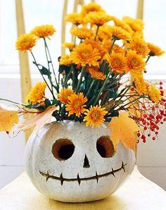Jack Skellington pumpkin vase