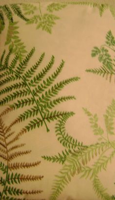 70 Inch Round Vinyl Padded Tablecloth Indoor Outdoor Green Ferns Kitchen  Patio   Bought On EBay