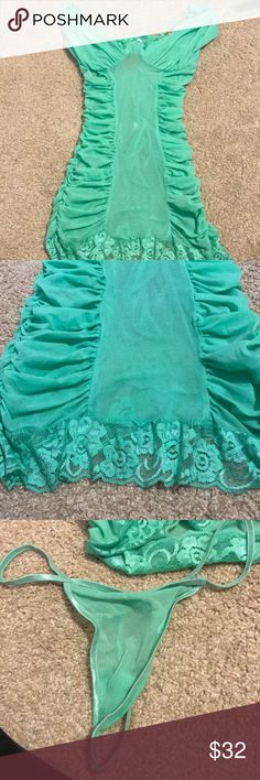 Fredericks of Hollywood Lingerie Brand new never worn. Super cute spearmint color size medium. Frederick's of Hollywood Intimates & Sleepwear