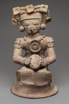 Human effigy incense burner top Maya , A.D. 400–550. -1