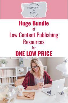 Low Content Publishing Mega Bundle Amazon Publishing, Self Publishing, Ubs, Amazon Kindle, Coloring Books, Writer, Ebooks, Author, Content