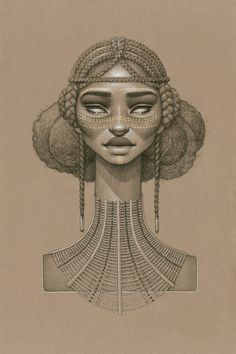 """Asis"" by Sara Golish Charcoal, conté gold ink on toned paper. 12.5"" x 19.5"" framed."