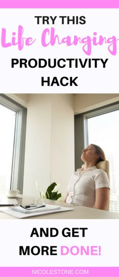 Wow! What a life changing productivity hack! I can't believe how much ore productive I am when using this strategy. Productive, productive tips, become more productivity, productivity, productivity hacks. #productivytips