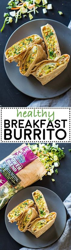 This Healthy Breakfast Burrito Recipe is perfect for hectic mornings. Prepare several burritos ahead for the week or month, refrigerate or freeze and then just reheat and enjoy! #burrito #ad #breakfast via @greenhealthycoo