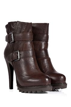 a58969d58030df STYLEBOP.com | Chocolate Leather Buckled Ankle Boots by ASH | the latest  trends from