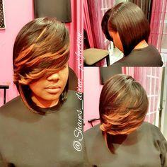 """Pronto Quick Weave Bob  IG: Shayes_dvine_perfection FB: Shayes D'vine Perfection Www.styleseat.com/shalandawilliams2 """"Come Get Shayed & Slayed"""""""
