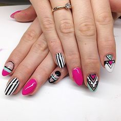 84 #Cute & #Colorful #Tribal #Nail #Art #Designs For #Summer #2017