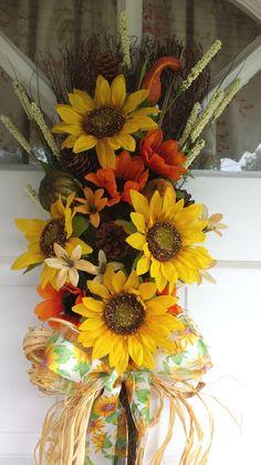 Fall Cinnamon Broom Fall Sunflowers Fall Broom by TheShabbyWitch, $35.99