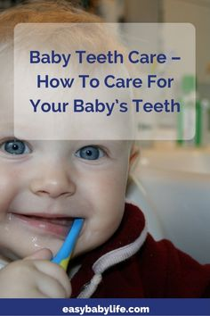 Baby teeth care starts before your baby's teeth have erupted. When to start, products (not) to use and how to make baby and toddler accept the tooth brush. Teeth Health, Dental Health, Dental Care, Baby Care Tips, Baby Tips, Baby Hacks, Veneers Teeth, Beautiful Teeth, Routine