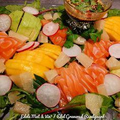 Edels Mat & Vin: Sashimisalat med pomelo, avokado & mango ! Sashimi, Cobb Salad, Mango, Manga