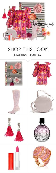 Christian Lacroix by lily0906 on Polyvore featuring Christian Lacroix, Betsey Johnson, Lorenz Bäumer, Maybelline, Jimmy Choo and AmiciMei