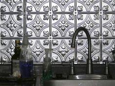 silver tin backsplash for kitchen | Kitchen Backsplash Ideas ...