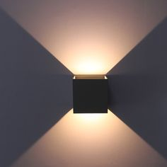 Adjustable Surface Mounted Outdoor Cube LED Wall Light, Led Lamp ,Up Down Sconce neutral white grey Modern Outdoor Wall Lighting, Outdoor Wall Lamps, Led Wall Lamp, Led Wall Lights, Custom Lighting, Diy Wand, Green Led Lights, Light Led, Restaurant Lighting