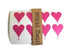 Hart stickers roze | Stickers | @Nikki Dotti