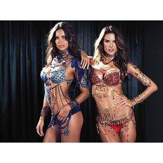 Victoria's Secret Fantasy Bra 2014 w/ Adriana Lima + Alessandra... ❤ liked on Polyvore featuring adriana lima and alessandra ambrosio