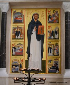 An icon of St Dominic from Dominican church in Rzeszów, Poland