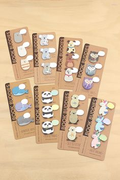 Four adorable new Book Buddies Sticky Note designs are here: Unicorns, Pandas, Otters, and Whales.