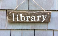 Library Rustic Sign by HomesteadDesign on Etsy