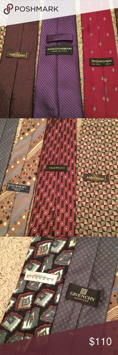 HUGE Designer Tie Lot Dior Givenchy Valentino YSL Nice lot of 14 Designer ties all ranging from $100-$300 a piece new. In various conditions, all in wearable condition though. Saint Laurent Accessories