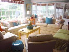 Island Preppy living room.