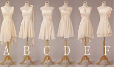 Cheap Bridesmaid dresses  short bridesmaid dress by TinnaDress, $79.00...C are my favorites-Courtney