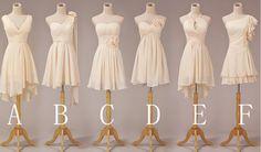 Cheap Bridesmaid dresses  short bridesmaid dress by TinnaDress, $79.00...C are my favorites-Courtney