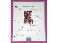 West Side Story Movie Script Autographed: Natalie Wood, Richard Beymer, Rita Moreno, George Chakiris, Russ Tamblyn, Simon Oakland & More
